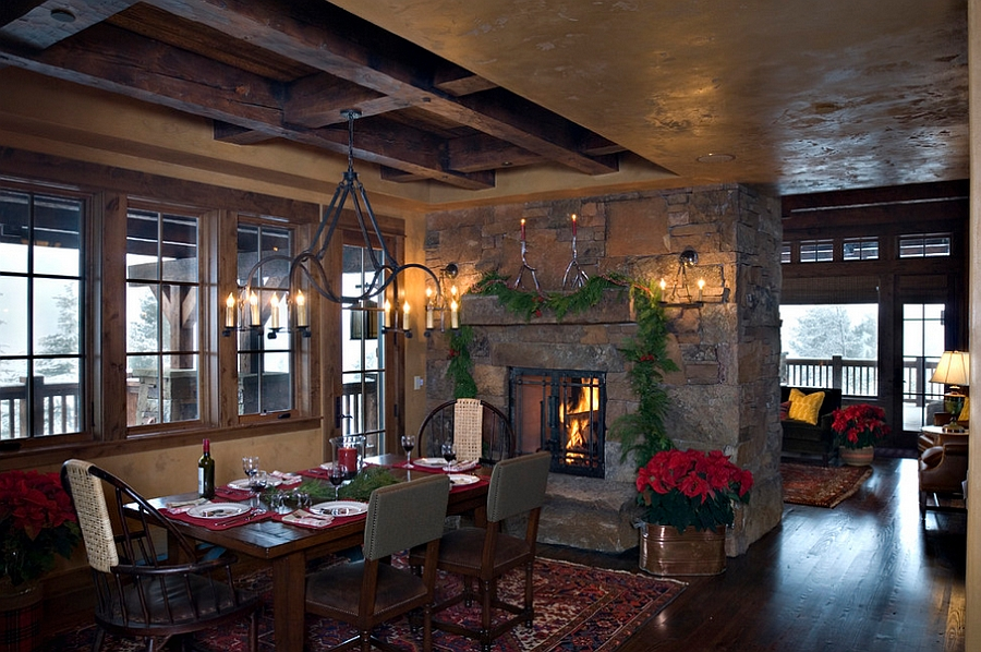 40 Rustic Living Room Ideas To Fashion Your Revamp Around: Top 40 Dining Hall Decorations For Christmas