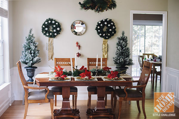 Holiday dining room decorating ideas design decoration for Small dining hall decoration