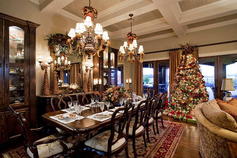 Top 40 dining hall decorations for christmas christmas for Dining decoration pictures