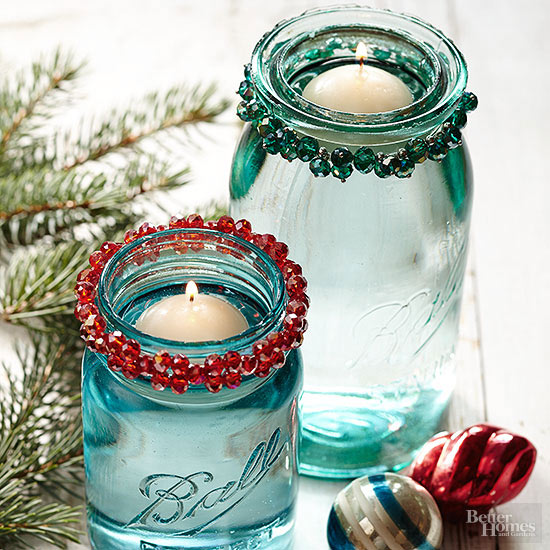 Mason Jar Christmas Decorations: 40 Essential Last Minute Christmas Decoration Ideas