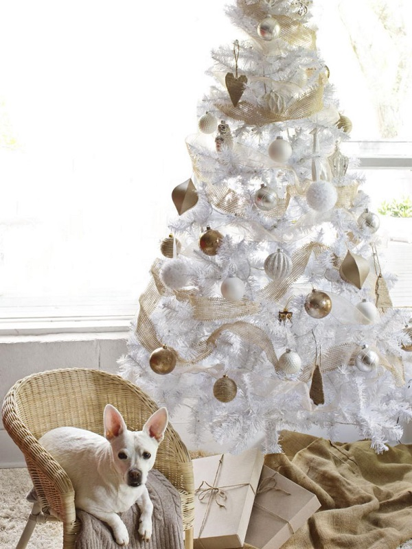 31 bright neutrals - White Christmas Tree Decorations