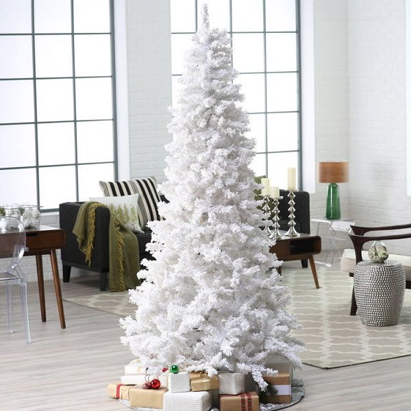 8 keep it simple - Pictures Of White Christmas Trees Decorated