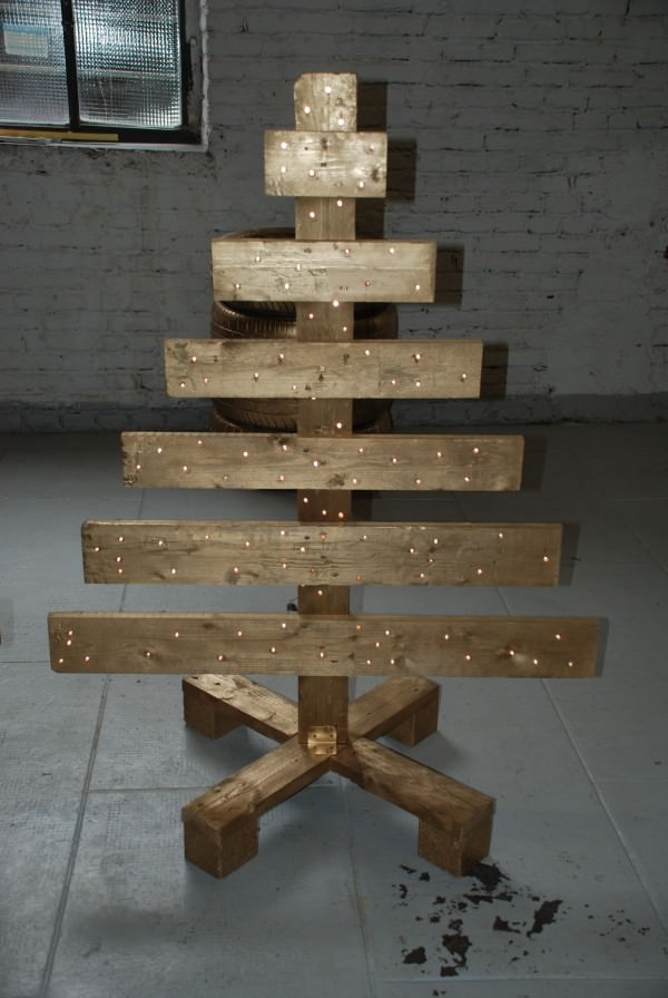 Pallet Wood Christmas Tree.Top Wooden Christmas Trees Christmas Celebration All