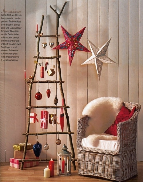 ladder tree - Christmas Tree Ladder Decoration
