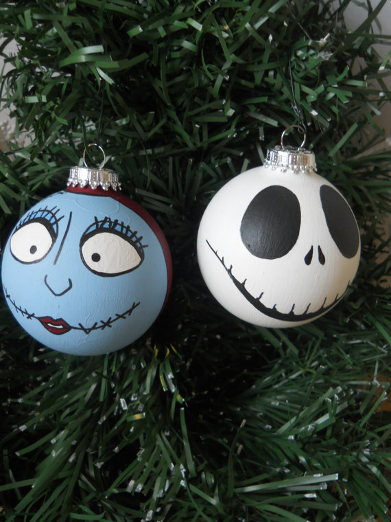 Hand Painted Nightmare Before Christmas Baubles: Source - Nightmare Before Christmas Decorations - Christmas Celebration - All