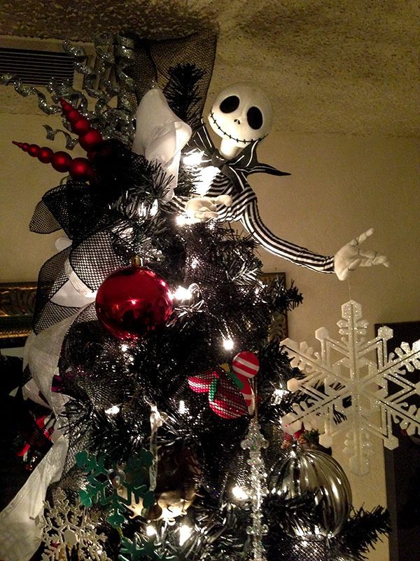 a nightmarish christmas tree source source the nightmare before