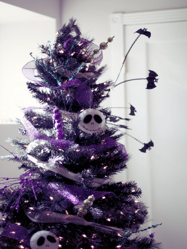purple nightmare before christmas tree source
