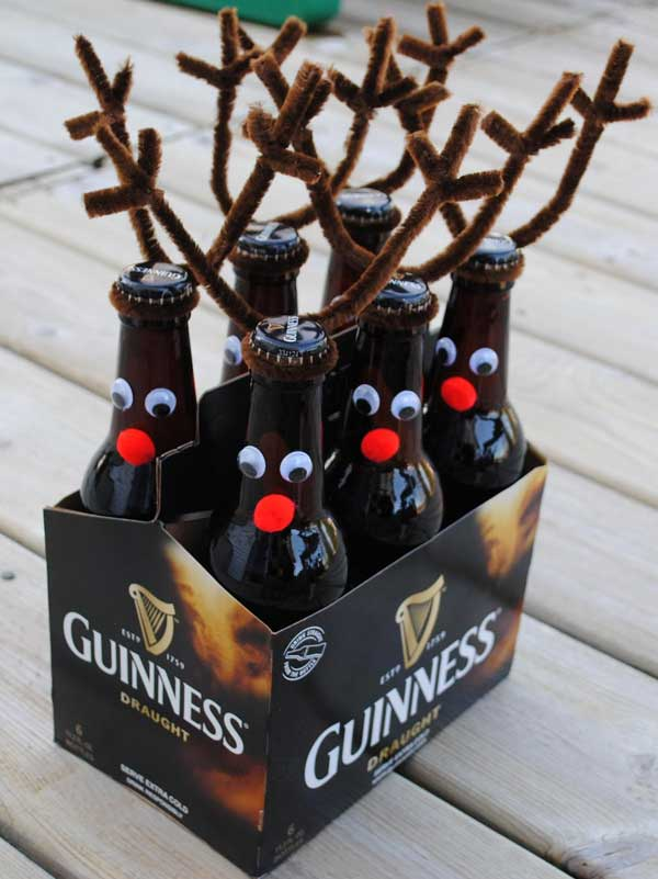 these lovely christmas wine bottles are the perfect gift for your boyfriend if he loves to drink and be merry - Homemade Gifts For Christmas