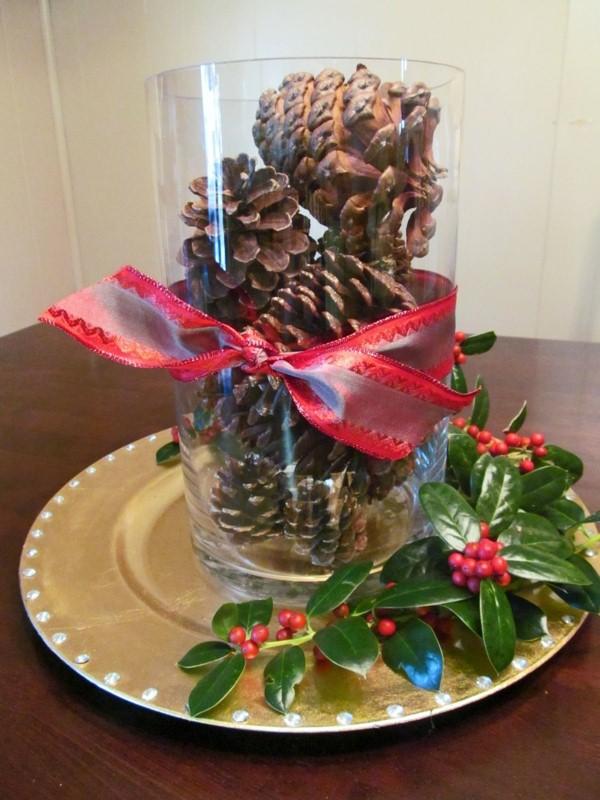 budget decoration for the christmas table source - Cheap Christmas Table Decorations