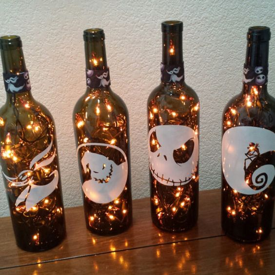 Nightmare Before Christmas Bottle Lights