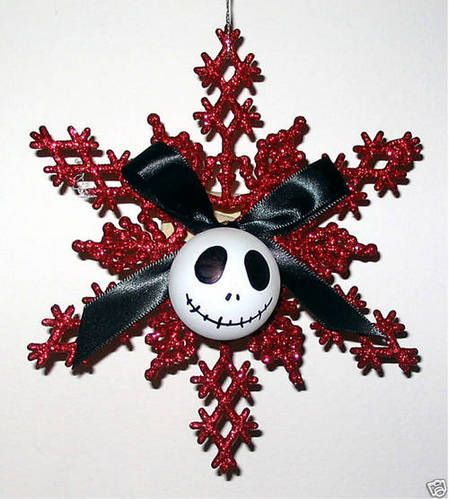 jack skellington snowflake ornament - Jack Skeleton Christmas Decorations