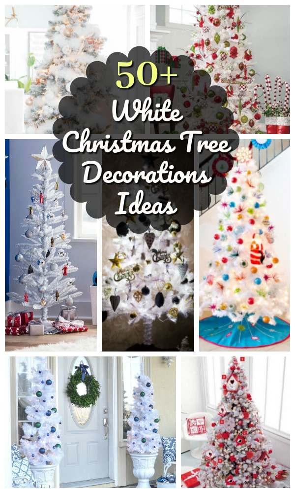 snowy white holiday decor always looks bright and modern so we have gathered some of the most creative and inspiring white christmas decoration ideas - White Christmas Tree Decoration Ideas
