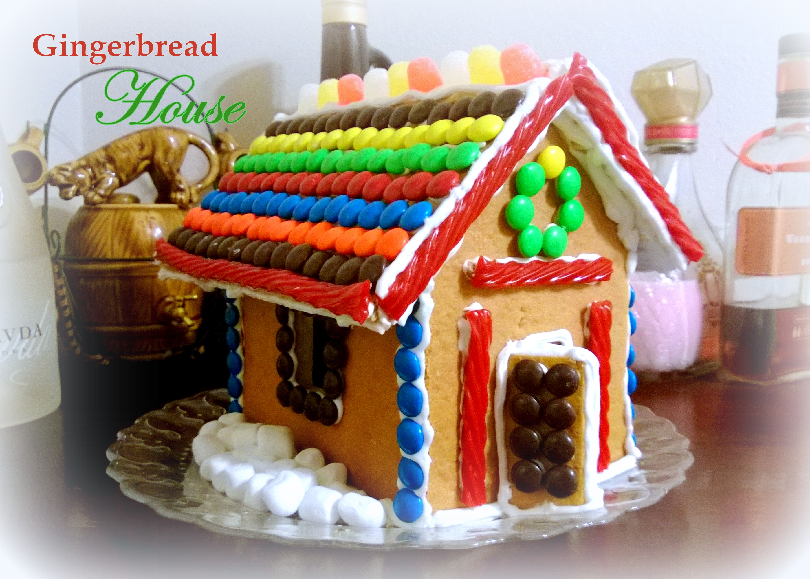 House Decorated Like Gingerbread House