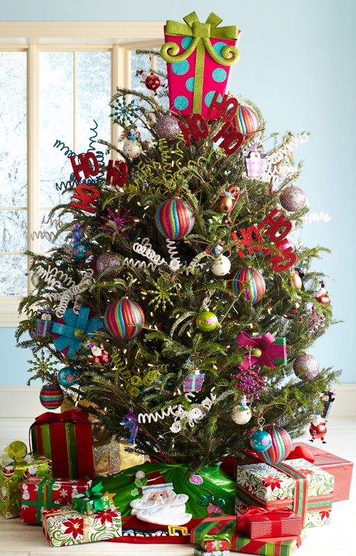 Colorful Christmas Tree Decorations.Top 40 Colorful Christmas Decoration Christmas Celebration