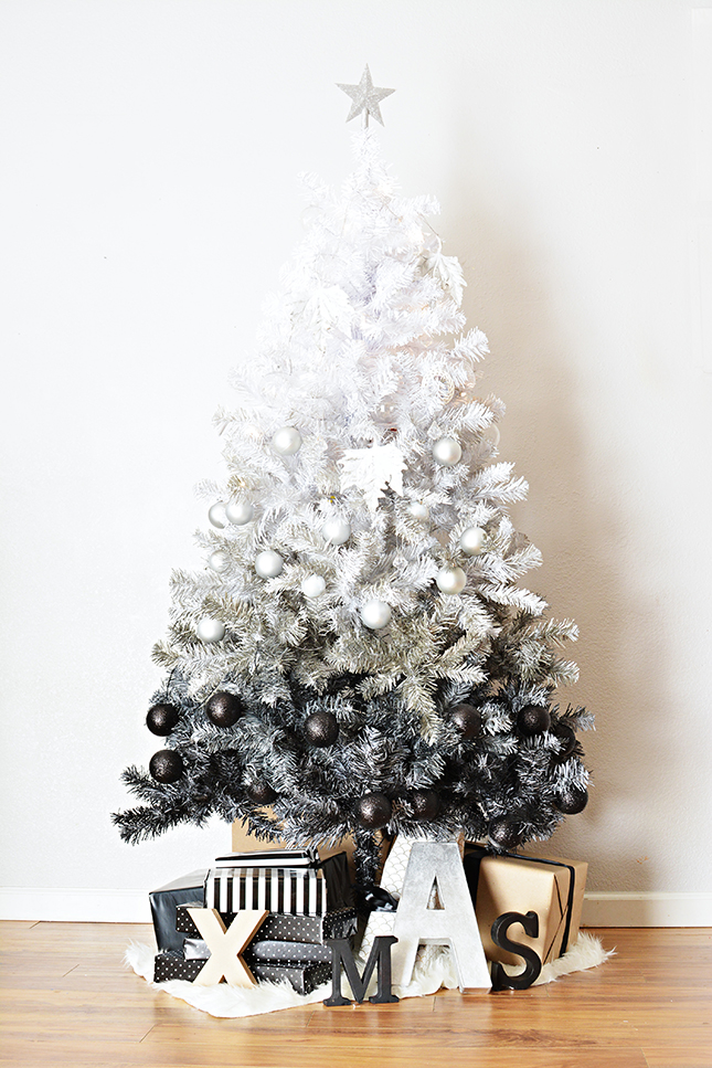 black and white christmas tree source