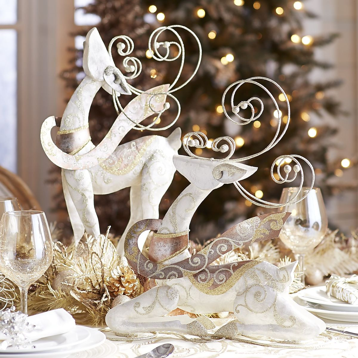 Table Paper Holder Top 30 Cute Deer Decoration Ideas For Christmas