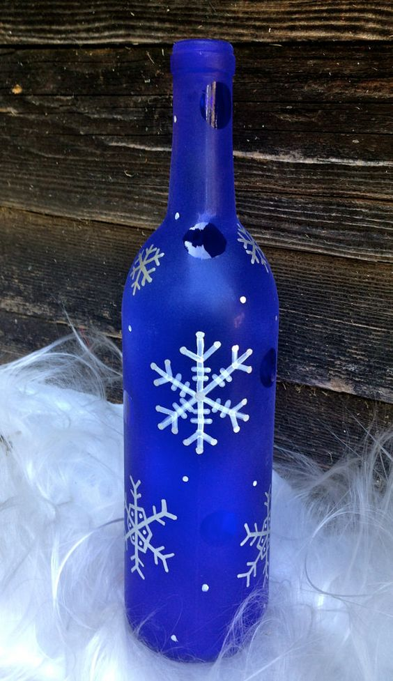 Top 35 Decoration Ideas Using Wine Bottles Christmas