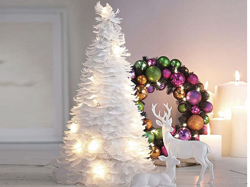source - White Deer Christmas Decoration