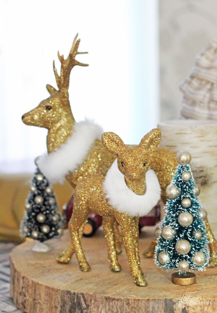source - Wooden Deer Christmas Decorations