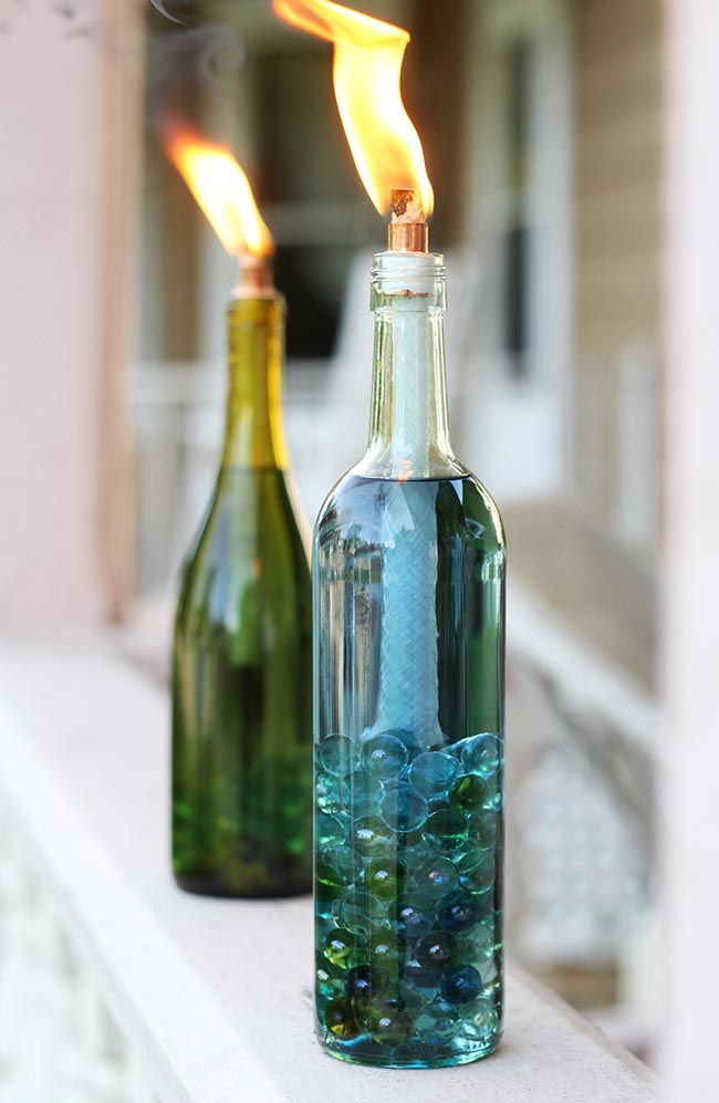 Top 35 Decoration Ideas Using Wine Bottles Christmas Celebration