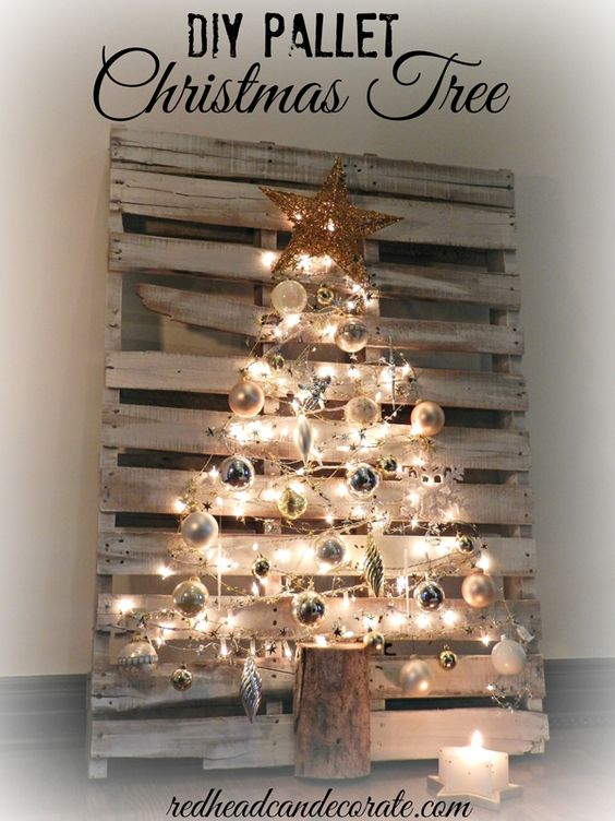 handmade pallet christmas tree source - Modern Christmas Tree Decorations