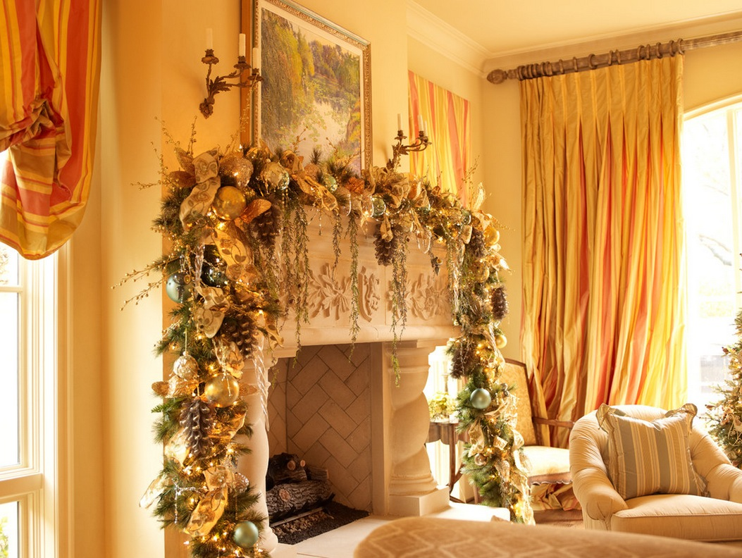 warm-christmas-mantel-decoration-gorgeous-lush-and-garland-rustic-christmas-mantel-interior-decorations-collection-of-inspiring-c