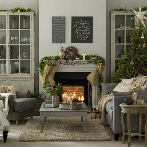 Top 40 christmas decoration ideas in gray christmas Christmas decoration in living room
