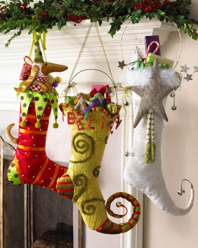 Top 40 Christmas Stockings Decoration Ideas , Christmas