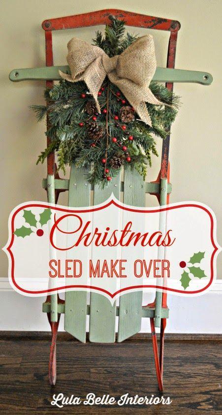 Top sleigh decorations christmas celebration all about christmas diy sled dcor image source solutioingenieria Choice Image