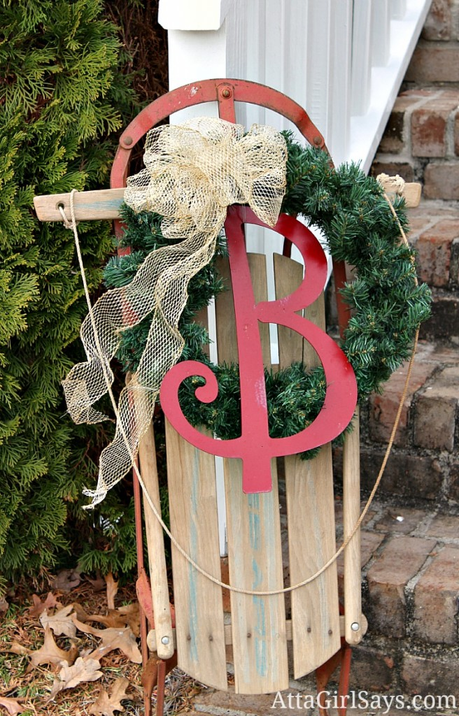 image source - Wooden Sled Decoration Christmas