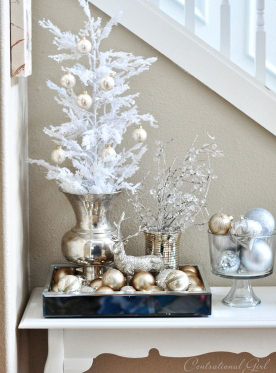 Top 40 Elegant And Dreamy White And Gold Christmas Decoration Ideas ...