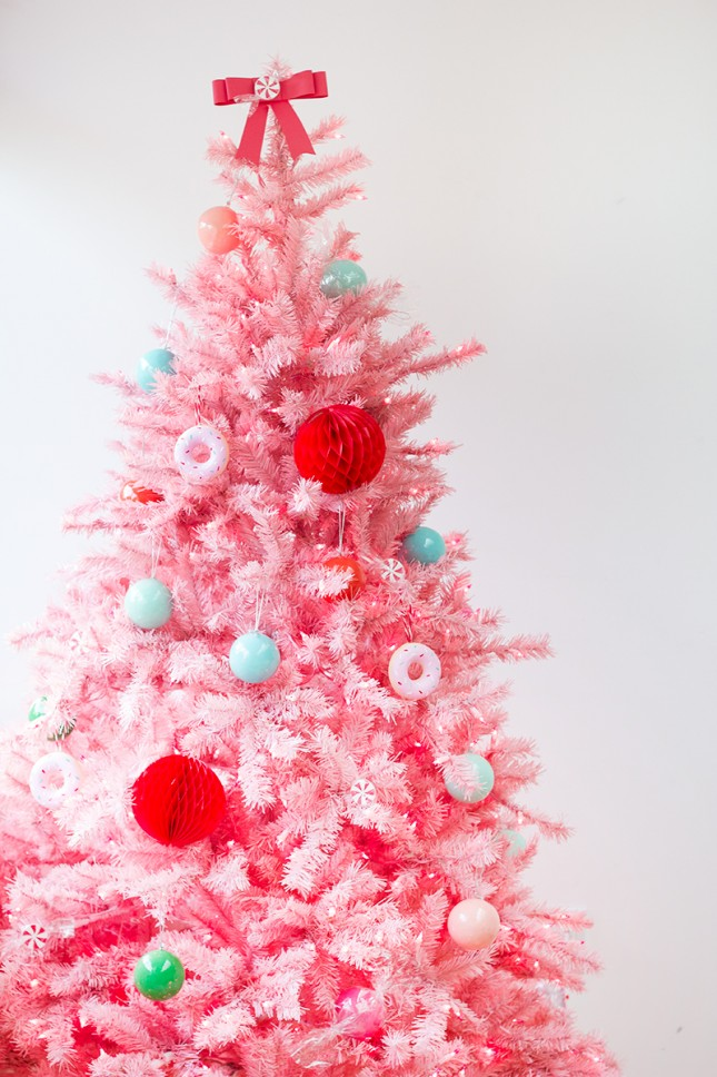 Small Pink Christmas Tree With Lights