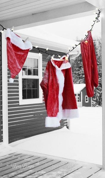 source - Red And White Outdoor Christmas Decorations