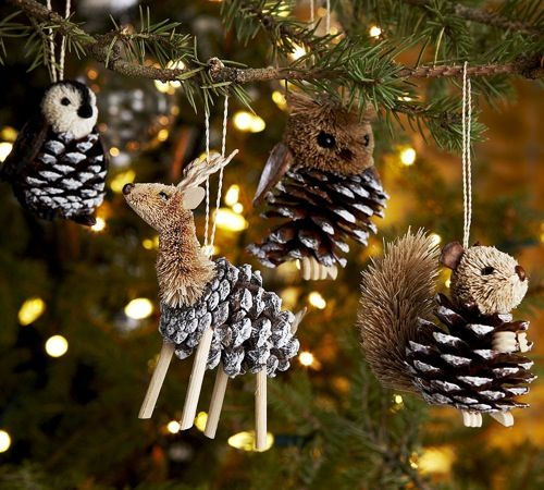 adorable pinecone ornaments source
