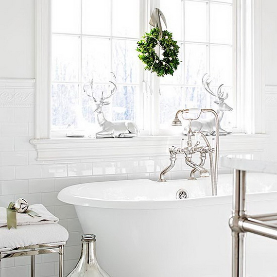 Picture For Bathrooms Decorations: Top 35 Christmas Bathroom Decorations Ideas
