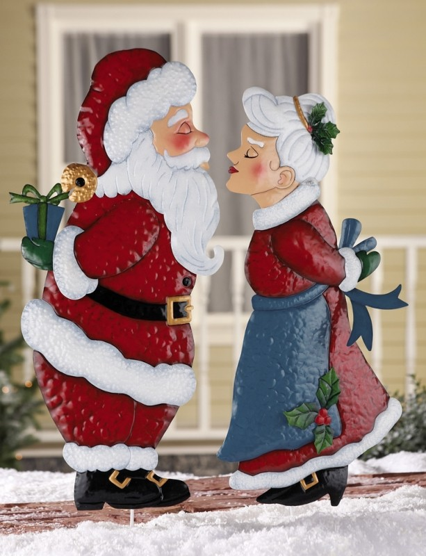 funny santa christmas yard decorations from wood | Top 40 Santa Claus Inspired Decoration Ideas - Christmas ...