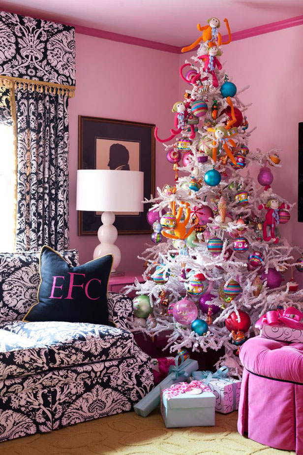 Source This Light Pink Christmas Tree Decorated With