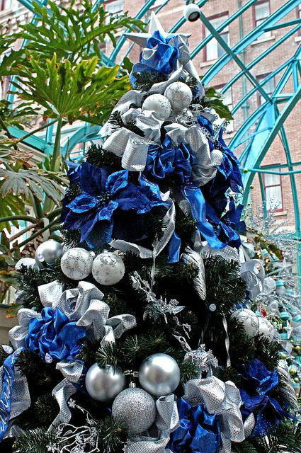 source - Blue Decorated Christmas Tree