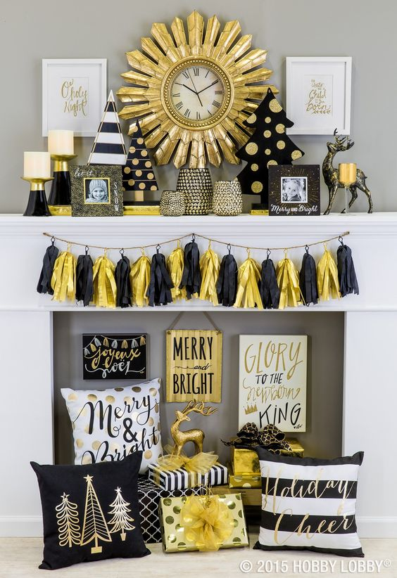 Top 40 Elegant Black And Gold Christmas Decoration Ideas - Christmas Celebration - All about Christmas