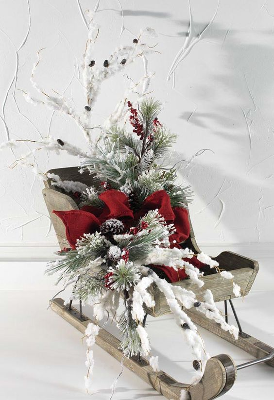 Top Sleigh Decorations Christmas Celebration All About Christmas