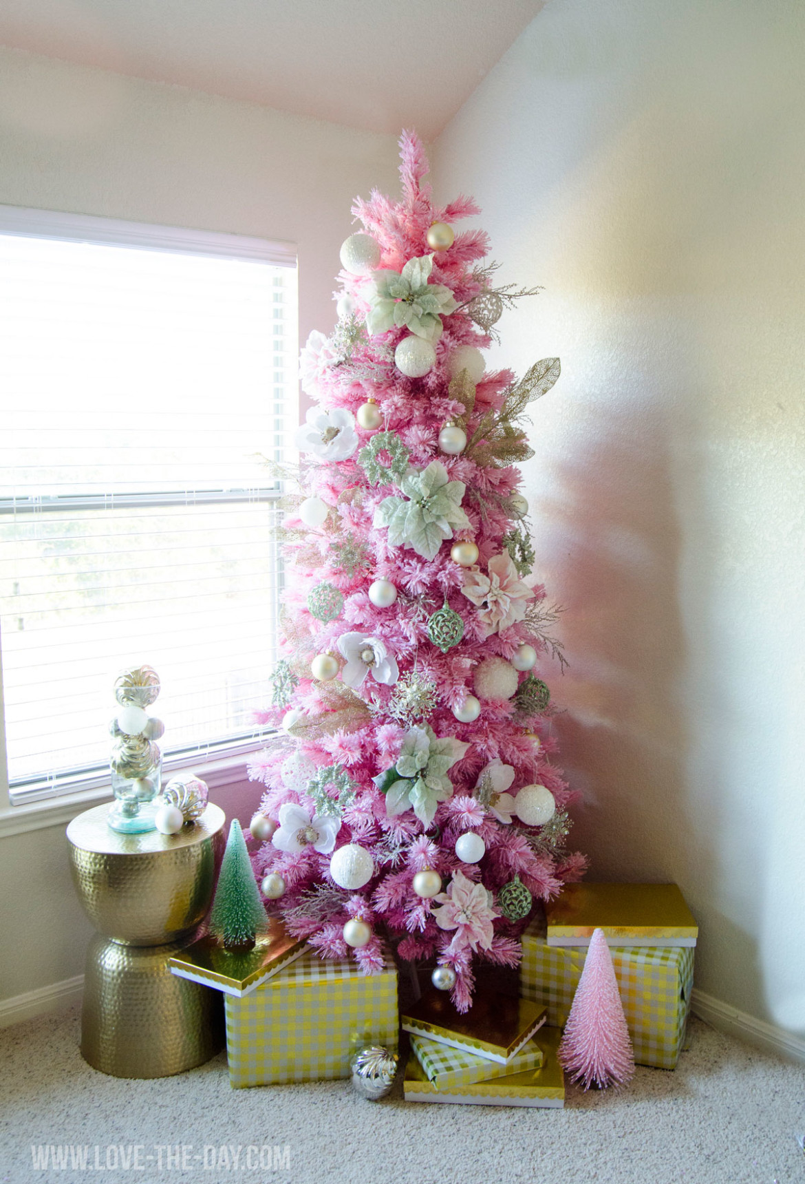 top 40 pink christmas trees christmas celebration all about christmas