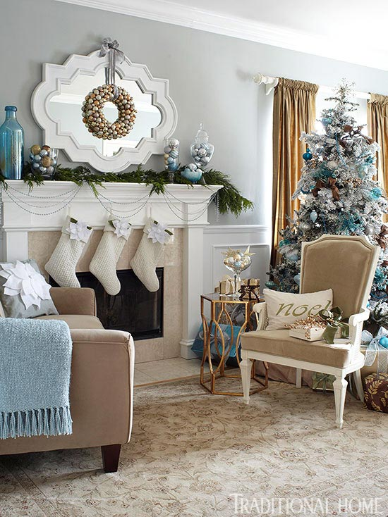 Blue And White Living Room: Source