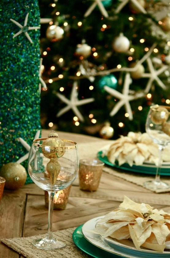 coastal themed tableware image source - Coastal Themed Christmas Decorations