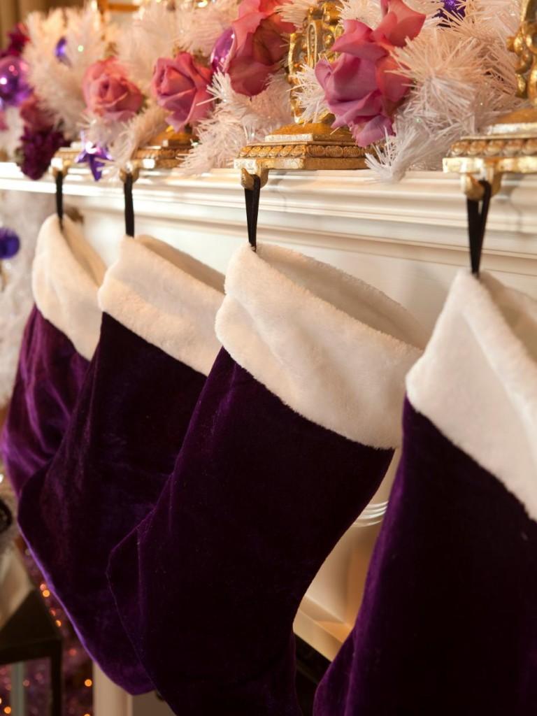 purple stocking source - Purple Christmas Stocking