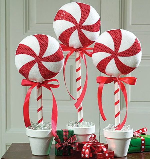 source - Peppermint Christmas Decorations