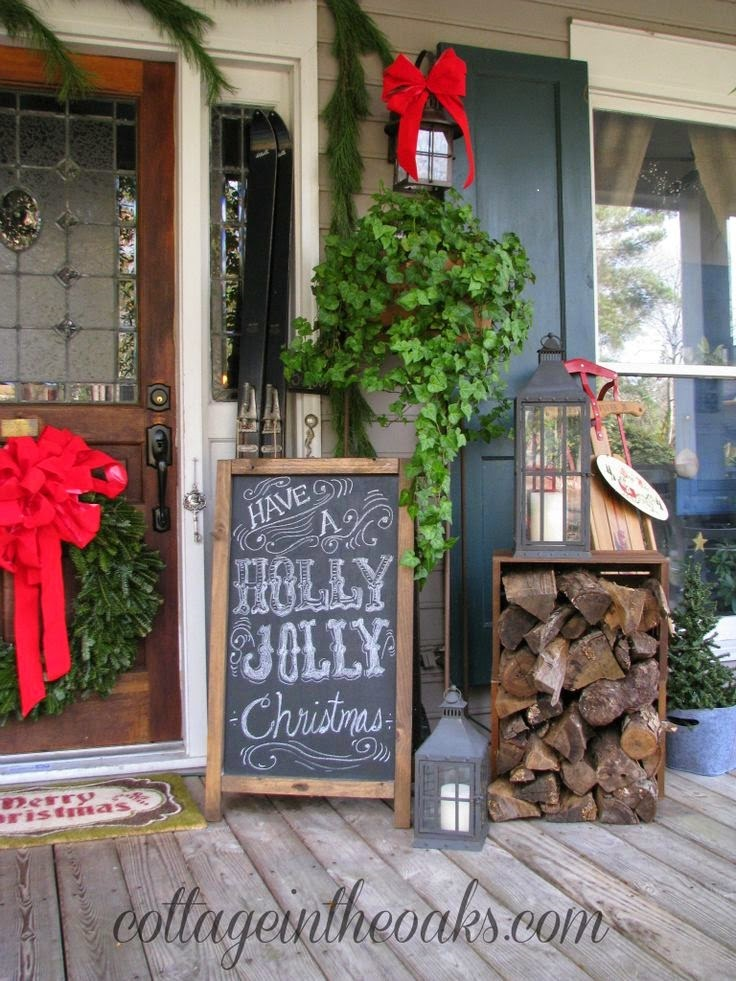 source source this outdoor decor - Rustic Christmas Porch Decorating Ideas