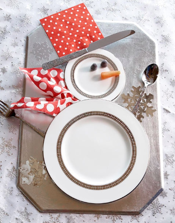 Simple Snowman Table Decor Source