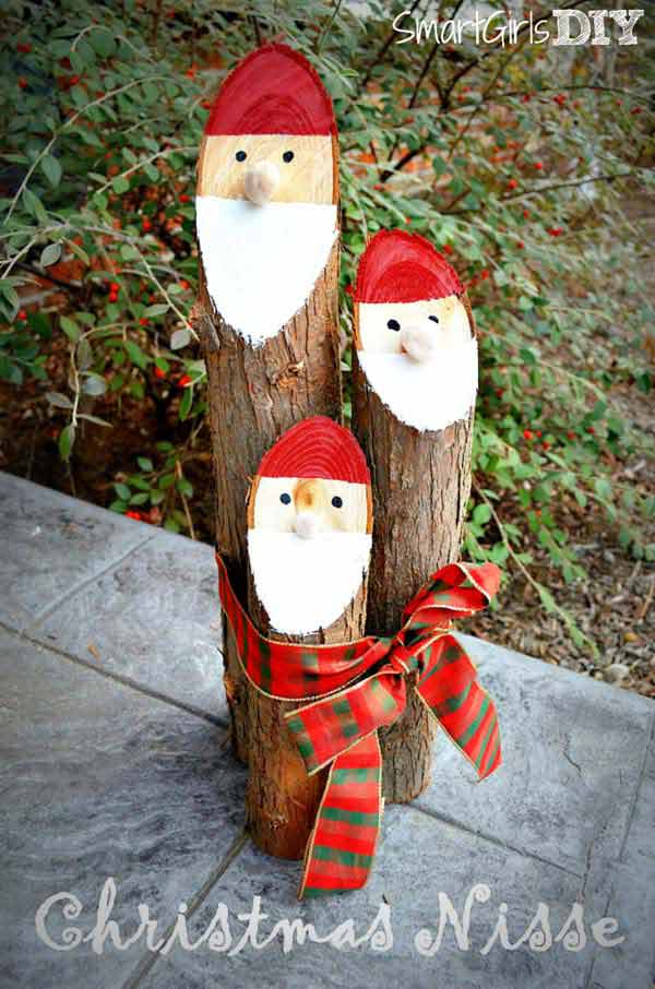 40 Rustic Outdoor Christmas Decorations Ideas Christmas Celebrations