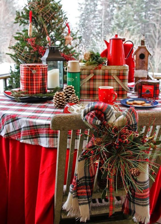 40 cozy plaid dcor ideas for christmas christmas celebration all about christmas - Tartan Plaid Christmas Decor
