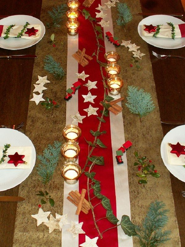 table top decoration in red gold source